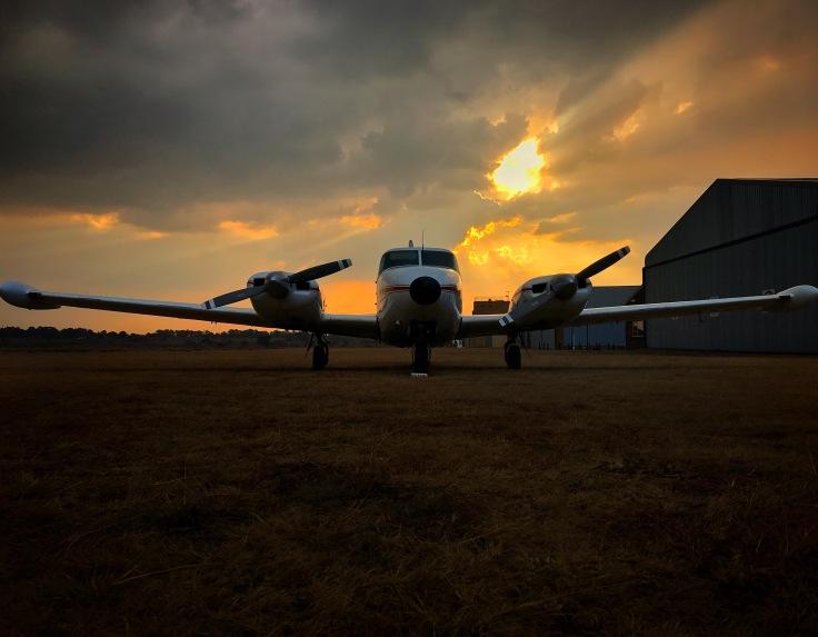 Aircraft at Sunset